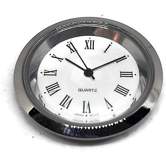 Clock movement quartz mini insertion head Ø35mm chrome roman