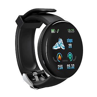 Stuff Certified® Original D18 Smartwatch Curved HD Smartphone Fitness Sport Activity Tracker Watch iOS Android iPhone Samsung Huawei Black