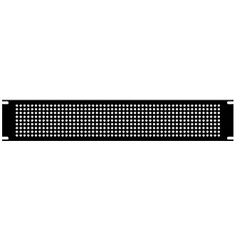 Hammond PPFS19001BK2 1U Steel Blank Panel Black - Perforated 483 x 2 x 44