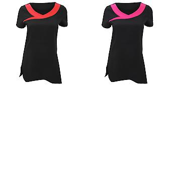 Premier Womens/Ladies Ivy Beauty And Spa Tunic (Contrast Neckline) (Pack of 2)