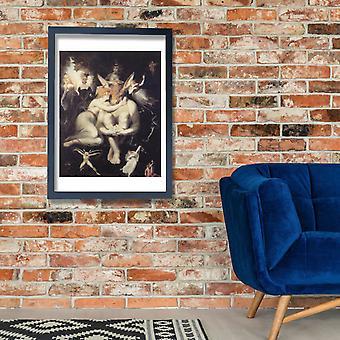 Henry Fuseli - Titania liebkost Poster Print Giclee