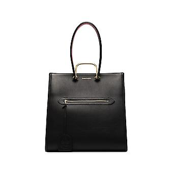 Alexander Mcqueen 610020d78bt1050 Women's Black Leather Tote