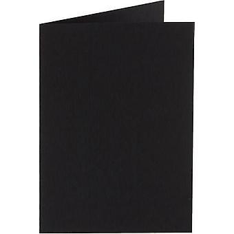 Papicolor Doub.Card square 13,2cm raven-black 200gr 6 pc 310901- 132x132 mm