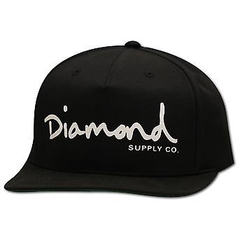 Diamond forsyning Co OG skriptet Snapback svart hvitt