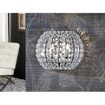 Schuller Diamond - Wandlamp gemaakt van metaal, chroom afwerking. Samengesteld door vierkante heldere kristallen. - 508323