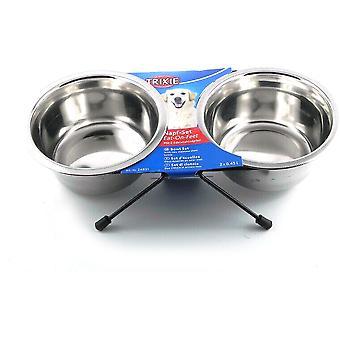 Trixie Stainless Steel Eat On Feet Dog Bowl Set