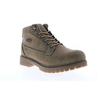 Lugz Mantle Mid  Mens Gray Nubuck Casual Dress Lace Up Boots Shoes