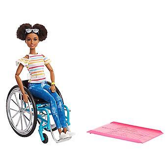 Barbie GGV48 Doll and Wheelchair, Brunette