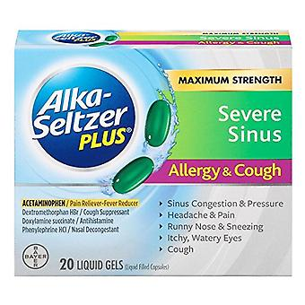 Alka-Seltzer schwere Sinus Staus Allergie & Husten, liquid Gel 20 ea