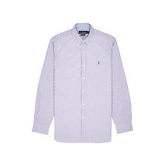 Ralph Lauren Ezcr012007 Mænd's Lilla bomuldsskjorte