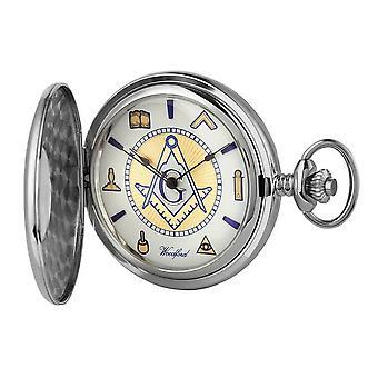 Woodford Masonic Albert Pocket Watch - Silver