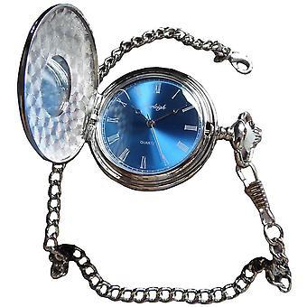 ברלי חצי צייד כיס שעון-כסף/כחול