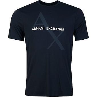 Armani Exchange Ax Artwork Logo T-paita