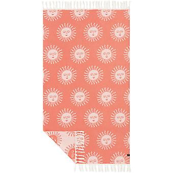 Slowtide Sunny Beach Towel in Red