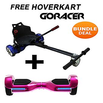 G PRO Pink Chrome Segway con un Racer Hoverkart in blu