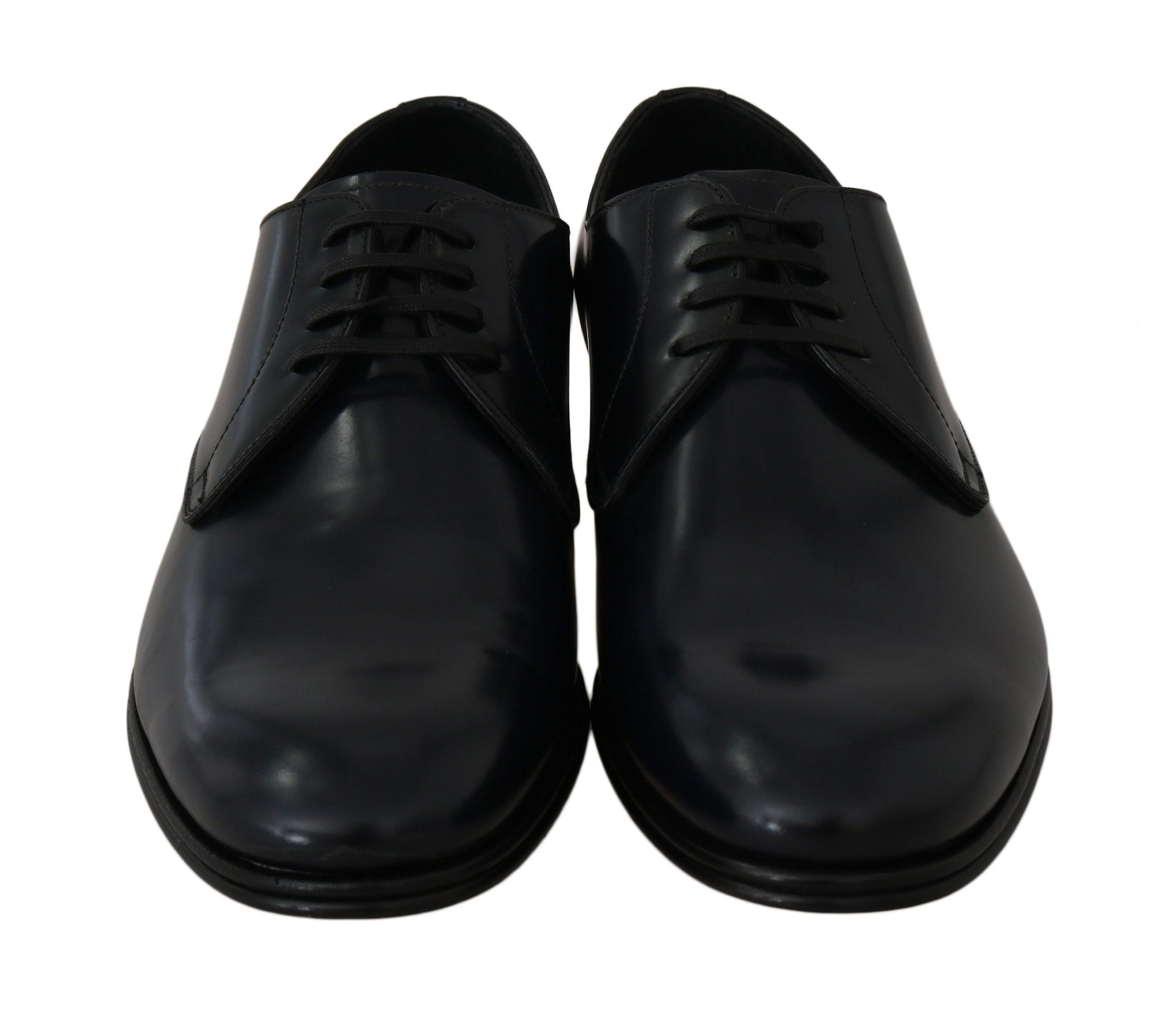 Dolce & Gabbana Blue Leather Mens Derby Formal Dress Shoes MV2107-41