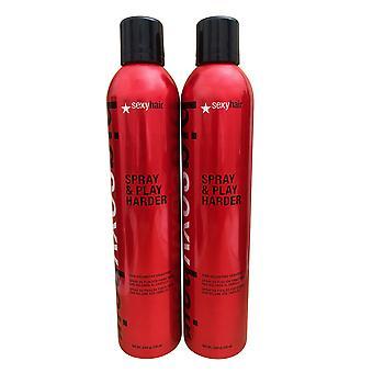 Sexy Hair Big Sexy Hair Spray & Play Harder 10 Oz (2 Pack)