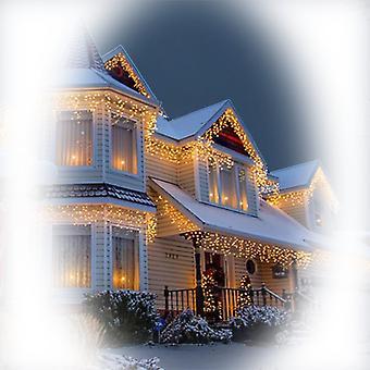 Jandei Świecąca kurtyna ICICLE 3m długości x 0,5 m wysokości BIAŁY CALIDO 3000K 114 diody 220-240V do dekoracji bożonarodzeniowych, imprezy, wydarzenia