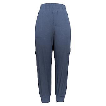 Anybody Women's Petite Pants M Cozy Knit Cargo Jogger Navy Blue A310165