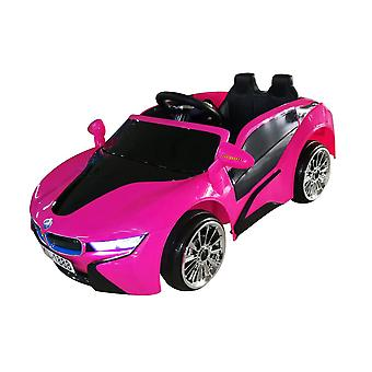 rideontoys4u unlicenced pink bmw i8 style 2 x 6v electric ride on car with