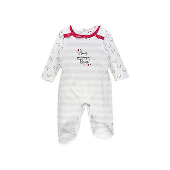 Brums Milano 2 Piece Interlock Set Dungarees With Feet