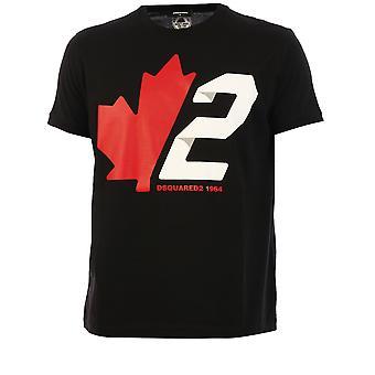Dsquared2 S74gd0756s22427900 Män's Black Cotton T-shirt