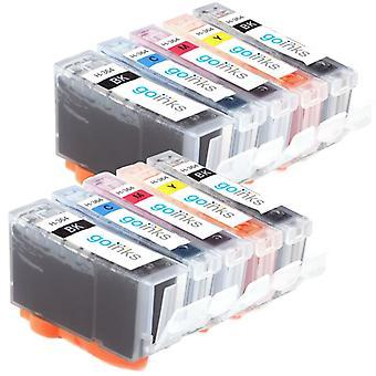 2 conjuntos compatíveis de 5 hp 364 (HP364XL) cartuchos de tinta de impressora