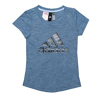 Girl's adidas Junior ID Winner T-Shirt in Blue