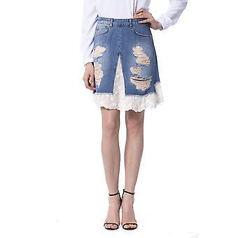 Falda azul femenina Silvian Heach