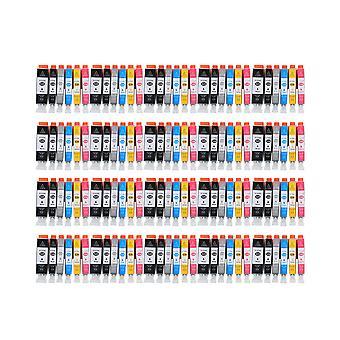 """روديتوس 20 x استبدال الكنسي PGI-525 + CLI-526 """"الحبر وحدة الأسود سماوي ماجنتا الأصفر الضوء السماوي & الضوء الأرجواني متوافقة"""" مع Pixma iX6500، iX6550، MX715، MX882، MX885، MX895، iP4800، iP4850، iP490"""