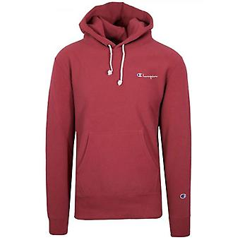 Champion Reverse Weave Red Hooded Sweatshirt