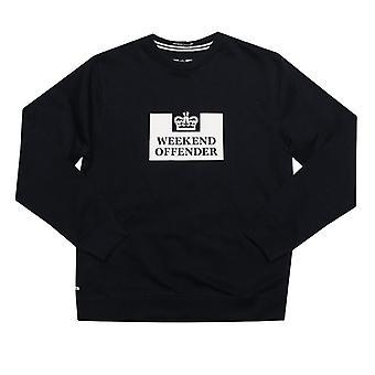 Boy's Weekend Offender Infant Penitentiary Crew Sweatshirt in Blue