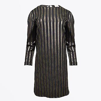Alysi  - Striped Dress - Black