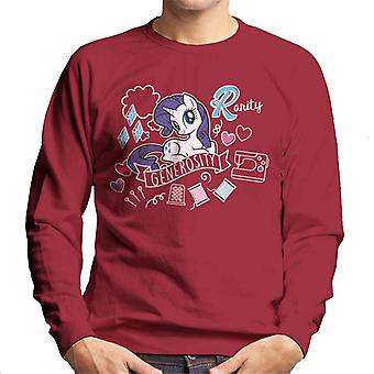 My Little Pony Rarity full av generositet Män & apos, s Sweatshirt