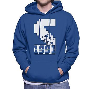 Sonic The Hedgehog 1991 Pixel Graphic Men's Hooded Sweatshirt