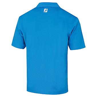Footjoy Mens Stretch Pique Solid Knit Collar Golf Polo Shirt