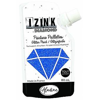 Aladine Izink Diamond Glitter Paint Marine Blue 80ml.