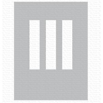Meine Lieblings-Dinge Rechteck Trio Schablone