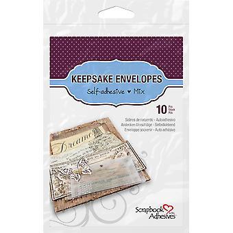 Scrapbook Adhesives Keepsake Envelopes Mix (10pcs) (01662)