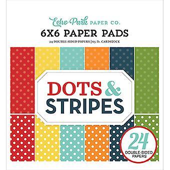 صدى بارك النقاط &; Stripes الصيف 6x6 بوصة ورقة وسادة