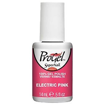 SuperNail ProGel Gel Nail Polish - Electric Pink 14ml