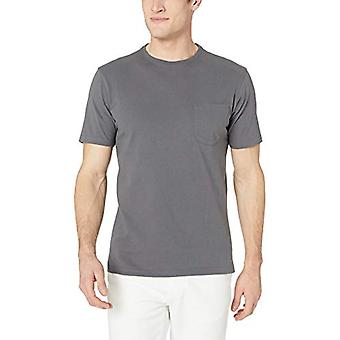 Goodthreads Men's Kurzarm Sueded Jersey Crewneck Pocket T-Shirt, dunkelgrau, XXX-large
