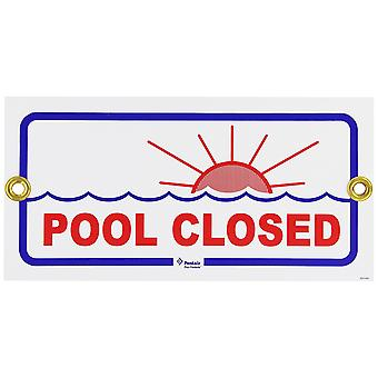 "Pentair Rainbow R231400 6"" x 12"" Pool Closed Sign"