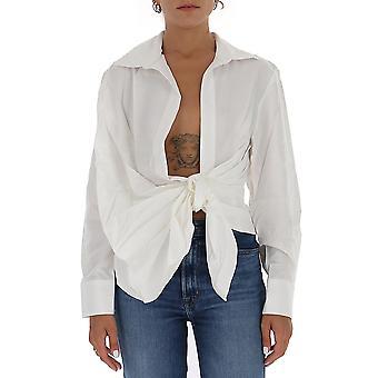 Jacquemus 203sh02203108110 Dames's Wit Viscose Shirt