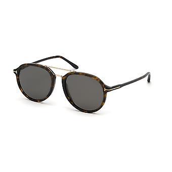Tom Ford Rupert TF674 52D Dark Havana/Smoke Polarised Sunglasses