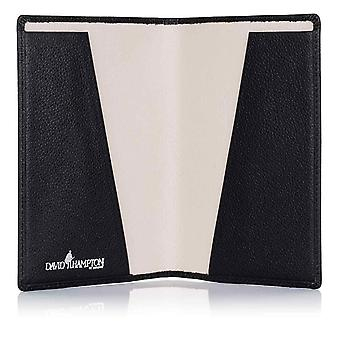Black Malvern Leather Passport Holder