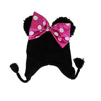 Beanie Cap - Disney - Minnie Mouse - Bow Peruvian Black Kids 022797