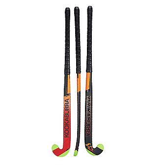 Kookaburra 2019 Fire L-Bow Extreme X Field Hockey Stick Zwart/Oranje/Rood