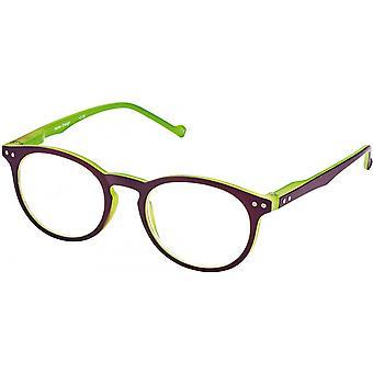 Lesebrille Unisex Libri_x  Bicolor grün / lila Stärke +2,5