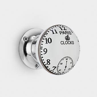 Botón de la puerta interior de cerámica - reloj de París